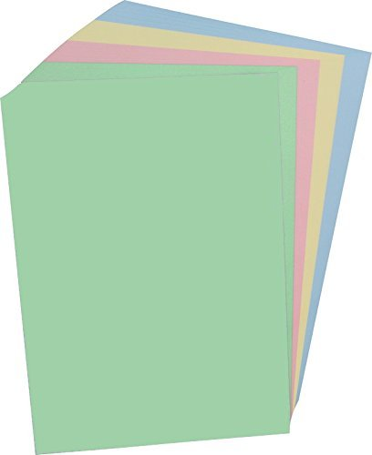 100 Blatt farbiges Druckerpapier / buntes Kopierpapier / 4 verschiedene Farben