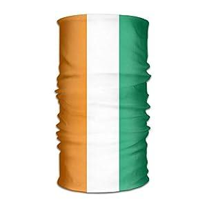 Not afraid Flag of Ivory Coast Unisex Outdoor Sport Scarf Headbands Bandana Mask Neck Gaiter Head Wrap Sweatband Headwear