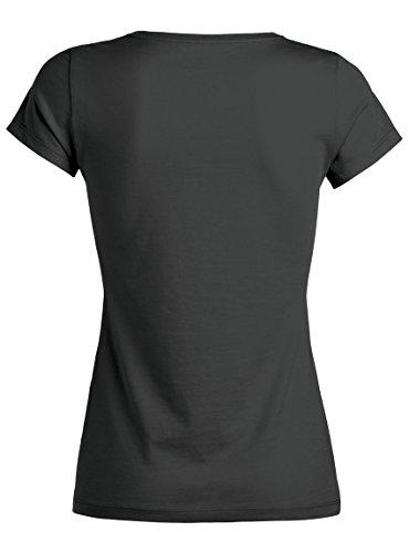 Maratus Damen T-Shirt Aus Bio-Baumwolle mit Rundhals Fair Wear Anthrazit