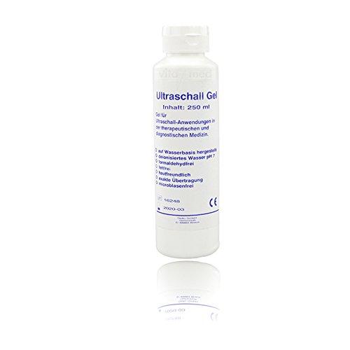 Ultraschallgel Sono Ultraschall Gel Kontakt Gel Medizinisch Gleitgel Kontaktgel Leitgel dematologisch getestet biokompatibel hautfreundlich pH-neutral 1x 250ml Flasche -