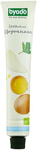 Bio-mayonnaise (Byodo Delikatess-Mayonnaise in der Tube, 8er Pack (8 x 100ml Tube) -Bio)