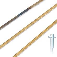 12 Stück Dekupiersägeblatt Standard mit Stift, Längsschnitt alle Maschinen 19 TPI