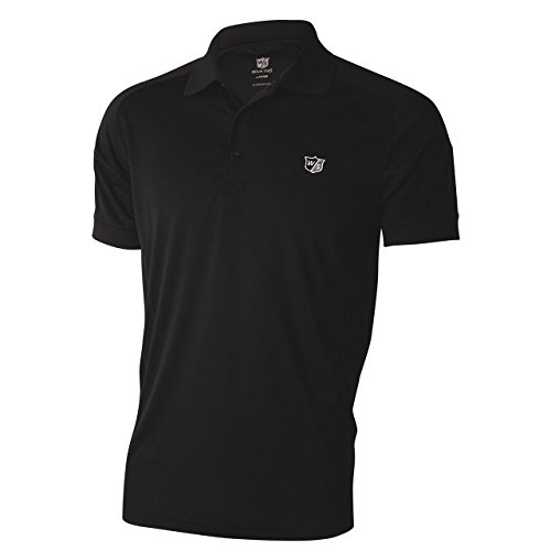 Mens Performance Golf Shirt (Wilson Staff Mens Performance Polo-Shirt schwarz Grösse XL)
