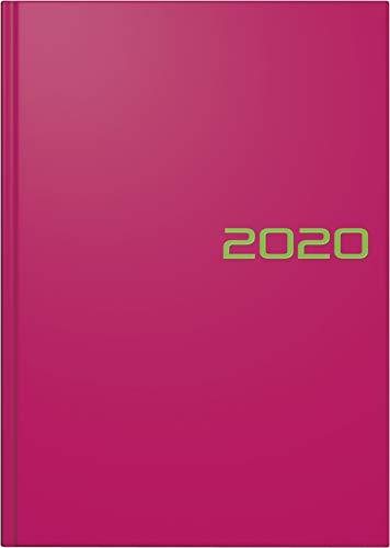 BRUNNEN 107956164 Buchkalender Modell 795 (1 Seite = 1 Tag, 14,5 x 20,6 cm, Balacron-Einband, Kalendarium 2020) pink