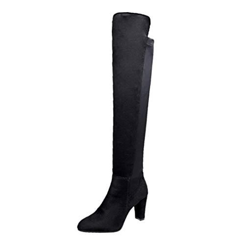 S&H NEEDRA Frauen Stretch Faux Slim Hohe Stiefel Overknee Stiefel High Heels SchuheBequem Schnürer Gym Fitness Atmungsaktives Mesh Turnschuhe