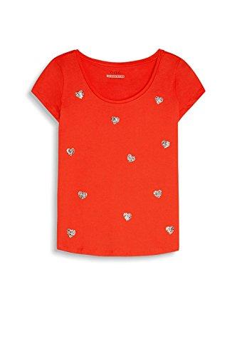 edc by Esprit 057cc1k015, T-Shirt Femme Rouge (Orange Red)