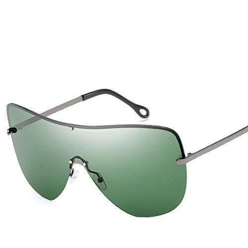 Klassisches Retro-Outdoor-EssentialPolarisierte Sonnenbrille mit großem Gestell für Herren, rahmenlos, sonnenbrillenblau