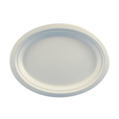 Papstar Pappteller / Einwegteller weiß, oval