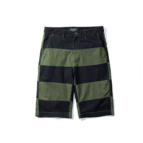 Summer Camo Cargo Shorts Men Cotton Striped Military Camouflage Male Jogger Shorts Men Casual Male Loose Work Shorts Men,Army Green,36 (Zip-up Hoodie Irish)