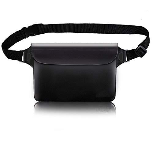magicelec Wasserdichter Beutel mit Hüftgurt, transparenter Bildschirm, berührbarer Packsack mit verstellbarem Gürtel für Handy-Wertsachen zum Schwimmen, Schnorcheln, Bootfahren, Angeln, Kajakfahren