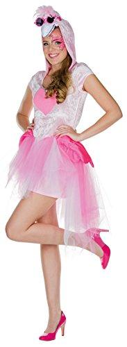 Mottoland Flamingo-Kostüm in Rosa/Pink | Flamingo-Kleid für Erwachsene (40) (Pink Flamingo Kostüm)
