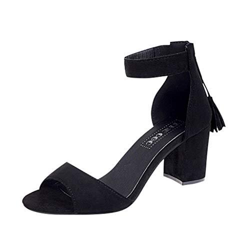 Topgrowth Sandali Donna con Tacco Eleganti Fibbia Tacco A Blocco Alto Sandali Slip-On Aperto Donna Scarpe con Tacco Quadrato Piattaforma Tacco Alto Peep Toe Roma Scarpe