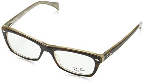 Ray-Ban RAYBAN Damen Brillengestell 5255, Braun (Havana), 51 -