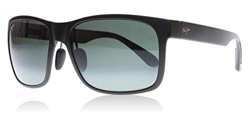 maui-jim-432-2m-schwarz-red-sands-rectangle-sunglasses-polarised-lens-category-3-lens-mirrored