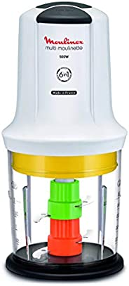 MOULINEX Multi Moulinette 6 in 1 500 ml Chopper, 500 Watts, White, Plastic, AT723127