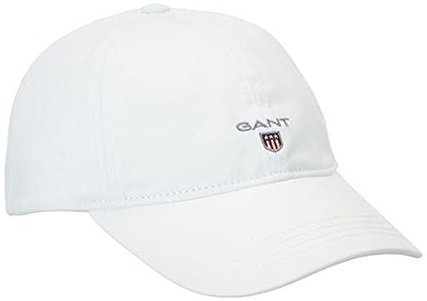 GANT Gant Twill Cap, Casquette De Baseball homme, Blanc (White),