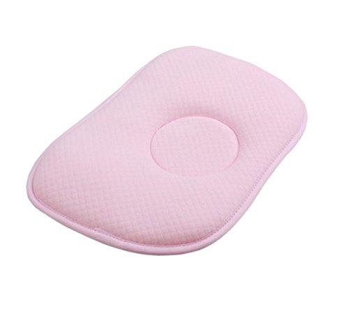 Tokkids cuscino da neonato, cuscino per primi mesi, traspirante e antibatterico, 28 x 20 x 2 cm (pink)