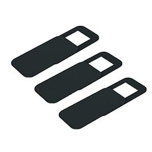 webcamcámaras web: ToGames-ES T10 3PCS Rectangle Webcam Cover Obturador de la cámara Ultra-Thin Pri...