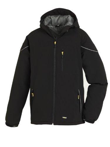 teXXor Winter-Softshelljacke Vail, gefütterte Arbeitsjacke mit Fleece, L, schwarz, 4138