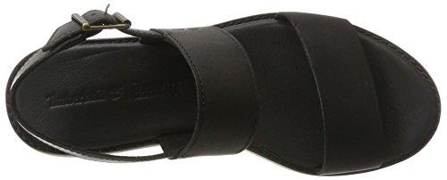 Timberland Damen Bailey Park Slingback Jet Black Swank Sandalen Sandalen mit Keilabsatz Jet Black (Schwarz)