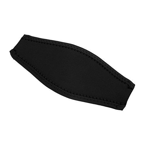 MagiDeal Neopren Maskenband - Tauchen Schnorchel Maske Gepolstert Neopren Abdeckung - Schwarz