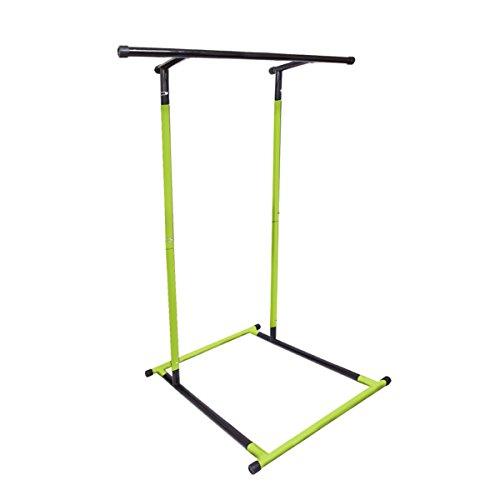 Anaelle Pandamoto Barre de Traction Portable Multifonction, Pull Up Fitness Bar, Barre à Dips, Démontable avec Sac de Rangement, Vert