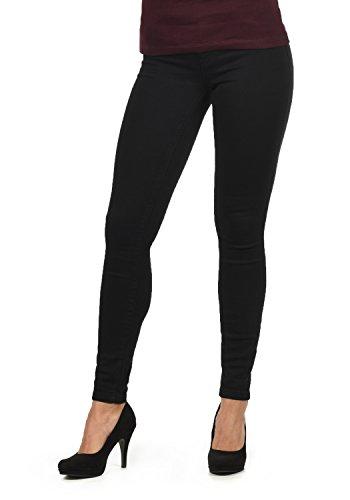 JACQUELINE de YONG by ONLY Feli Damen Jeans-Hose Röhrenjeans lange Hose aus hochwertiger Baumwollmischung Skinny Fit Stretch High-Waist, Farbe:Black, Größe:L/ L32