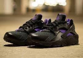 Nike - Chaussure de sport Air Huarache noir / mauve d'occasion  Livré partout en Belgique