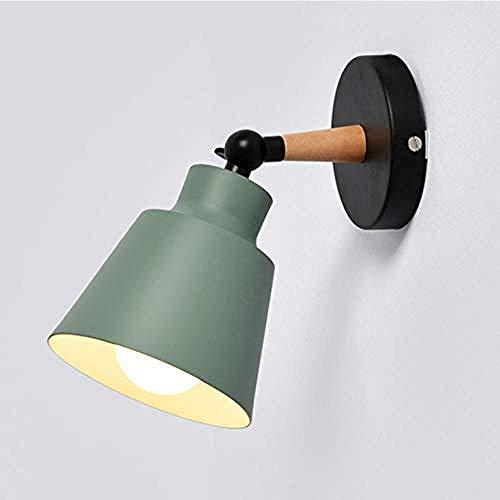 Beleuchtung dekorative Wandleuchte Nordic Holzwandlampe Schlafzimmerlampe neben LED-Licht Protein moderne E27 LED Wandlampe Bar Restaurantbeleuchtung grün