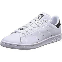 adidas Herren Stan Smith Sneaker, Weiß (Footwear White/Core Black/Footwear White 0), 43 1/3 EU