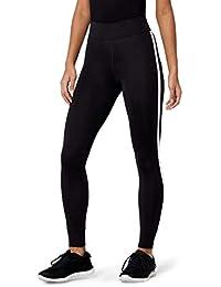 Amazon-Marke: AURIQUE Damen 7/8-Sportleggings mit Seitenstreifen