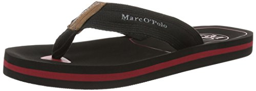 Marc O'Polo70023691003624 Beach Sandal - Sandali Uomo , nero (Schwarz (black/bordo)), 42