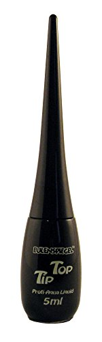 Uv Kostüm Flasche - Eulenspiegel 671115 - Professional Liquid Aqua Schminke Tip Top - Flasche mit integriertem Pinsel - 5 ml - Schwarz