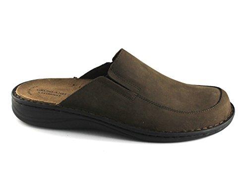 Ce0329 Pantofole Lino Rimovibile Unico Marrone Grünland Uomo Scuro Ppvqw