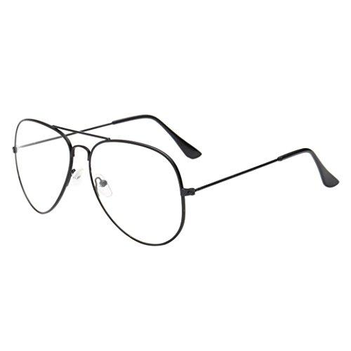 TUDUZ Nachtsicht Flieger Retro Sonnenbrille/Myopie Brillen Lünette für Männer und Frauen UV400 Gläser für Fahrer (Schwarz)