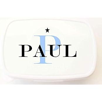 Brotdose Kinder/Lunchbox Kinder Kindergarten Jungen mit Namen/personalisierte Frühstücksdose Schule/Snackbox Vesperdose