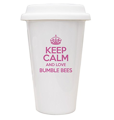 Rosa Keep Calm And Love Bumble Bees Eco tazza TXT 1964 - Rosa Bumble Bee