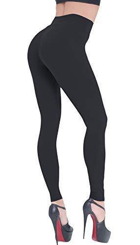 Beelu Damen Leggings High Waist Capri Leggings Tummy Control Frauen Fitness Weich Push Up Hose strumpfhosen
