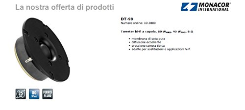 Integrazione Focale TIS Tweeter 25 mm 1 Coppia con accessori