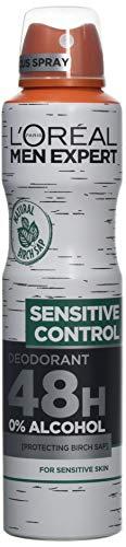 L'Oréal Men Expert Sensitive Control 48 heures Déodorant 250 ml Lot de 6