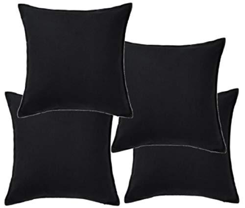 IKEA-- Kissenbezug, schwarz-50x 50cm, schwarz, 4 Stück (Kissenbezüge Ikea)