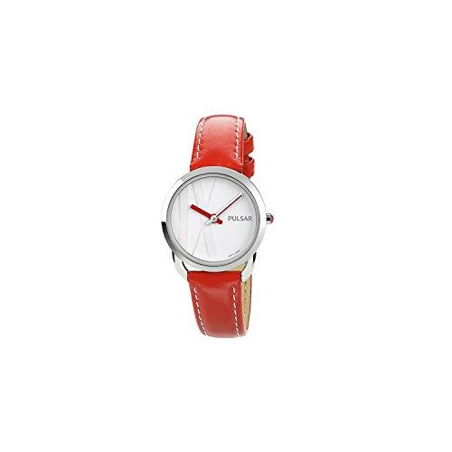Seiko Pulsar Reloj Mujer artyhours Piel Rojo