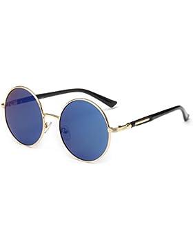 linyuan 601Mujer Lente Redondo Gafas de sol retro Classic funda vintage UV400