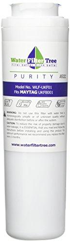 WLF-UKF01-Ersatzfilter für Maytag UKF8001,Pur Kühlschrank-Wasserfilter, UKF8001AXX, 67003523, 67003526, 67003527, 67003528, 12589203, 12589206, 12589208, 12589210, 13040216, UKF9001, Amana (Kühlschrank-filter Ukf8001 Pur)