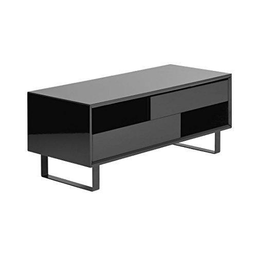 Protege Homeware Nero Lucido Tavolino 2ripiani