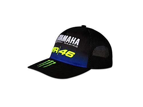 VR46 Cap Yamaha Black VR|46 Valentino Rossi Snapback Official Racing Apparel