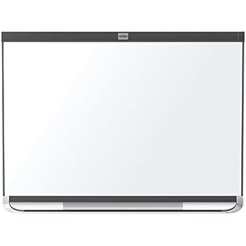 Nobo Pizarra blanca magnética marco negro Prestige 600x900mm - Accesorio magnético (713 x 1050 x 56 mm, Acero, Negro, Color
