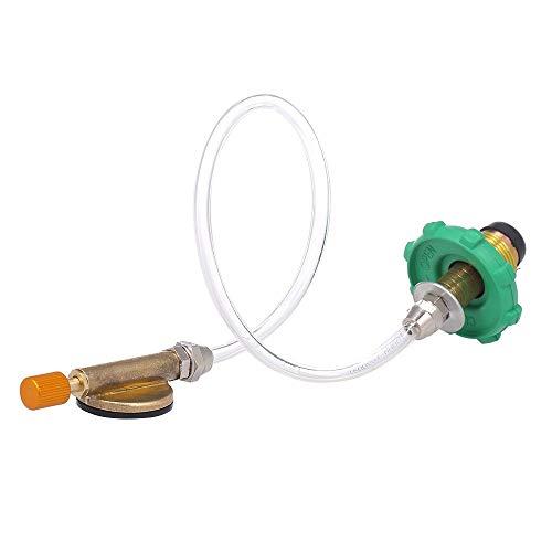 Shanyaid 2019 Safety Product Propan-Nachfülladapter für Campingkocher, Flacher Zylinder, Tank-Koppler-Flaschenadapter (Propan-tank Für Campingkocher)