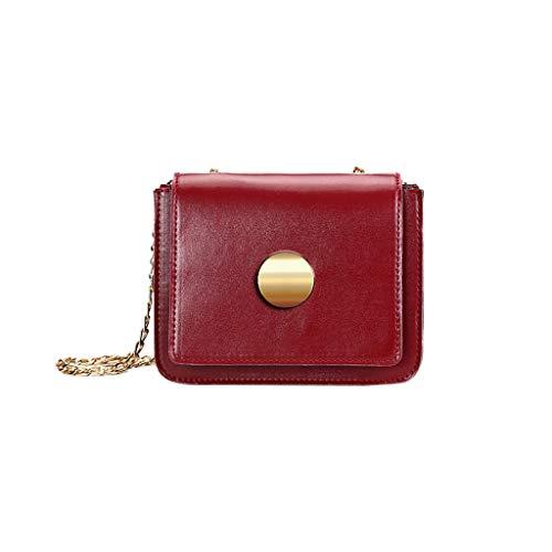 DAKERTA Umhängetasche Damen Klein Sling Tasche Vintage Kette Bag Clutch Mini Citytasche Alicia Sling