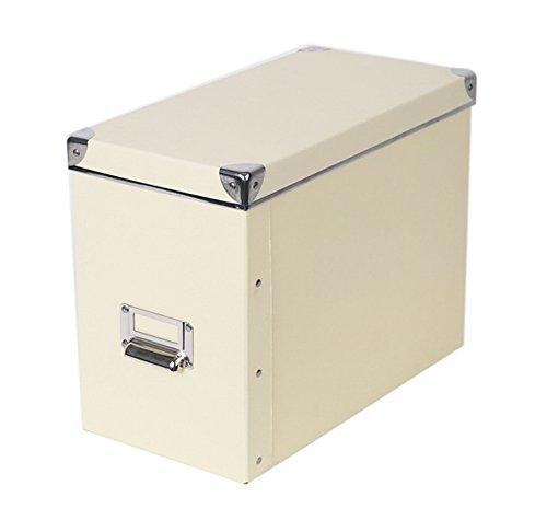 Licht Gelb Papier Briefpapier Desktop Faltpapier Aufbewahrungsbox Silber Ecken